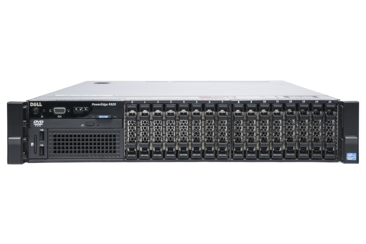 MÁY CHỦ DELL POWEREDGE R820 4 X INTEL XEON E5-4620 DDR3 64G 300G X 4 RAID H710