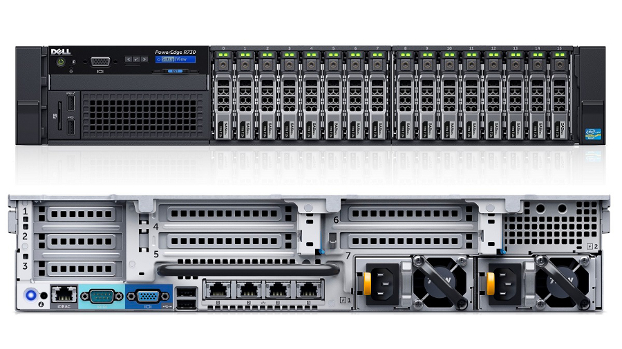 MÁY CHỦ DELL POWEREDGE R730 E5-2630V3 2.40GHz
